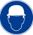 Hard Hats Must Be Worn Safety Sign