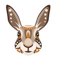 hare head logo rabbit decorative emblem vector image vector image