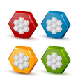 Honeycomb icons vector image vector image