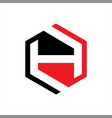 initials h logo hexagon vector image vector image