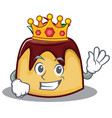 king pudding character cartoon style vector image vector image