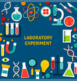 laboratory experiment paper template vector image vector image