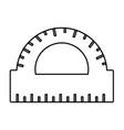 line conveyor ruler education school utensil vector image vector image