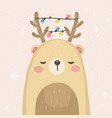 little bear for holiday decoration vector image vector image