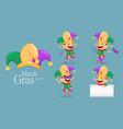 mardi gras jester set vector image