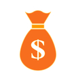 Money symbol sign on white vector image vector image