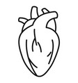 muscle human heart icon outline style vector image vector image
