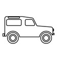 off road vehicle icon black color flat style vector image vector image