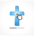 online service logo vector image