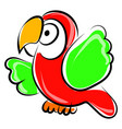 parrot drawing on white background vector image vector image