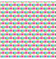 pattern square color graphic collection on vector image vector image