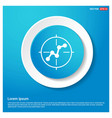 project connection icon abstract blue web sticker vector image