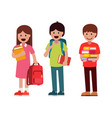 pupils boys and girls vector image vector image