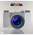 Retro camera vector image