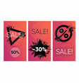 sale banners set discounts backgrounds abstract vector image