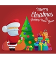 Santa claus on new year or christmas eve vector image vector image