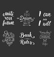 set inspirational and motivational lettering vector image