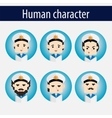 set men European character sailor vector image