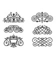 set of forged lattices vector image vector image