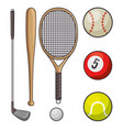 set of sports icon vector image vector image