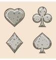 set stone icons of playings vector image vector image