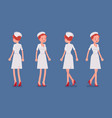 sexy nurse standing and walking vector image vector image