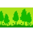 Silhouette of tree at spring landscape vector image vector image