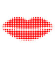 smile lips halftone dotted icon vector image