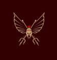 spartan tridents emblem vector image