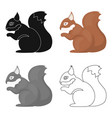 squirrel icon in cartoon style for web vector image