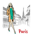 street of paris vector image vector image