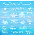 summer letterings vector image