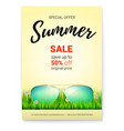 summer sale promo poster with 50 percent discount vector image vector image