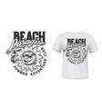 summer sun with ice cream t-shirt print vector image