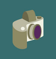 technology gadget in flat design camera vector image
