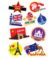 Travel Sticker vector image vector image
