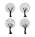 tree element set in abstract geometric style vector image vector image