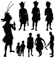 tribe people silhouette vector image