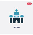 two color vaticano icon from travel concept vector image