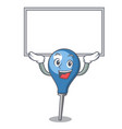 up board clyster character cartoon style vector image vector image