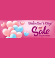 valentines day shopping sale invitation vector image