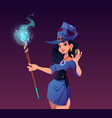 witches night cartoon poster halloween holiday vector image