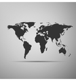 world map icon on grey background adobe