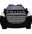 police car front view vector image
