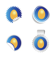 sticker with egg blue vector image