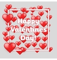 Decor frame of hearts vector image