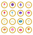 flower icon circle vector image
