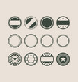 stamps and stickers icons set vector image