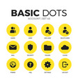 account flat icons set vector image vector image