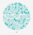 alternative medicine concept in circle vector image vector image